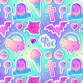 Kawaii Pastel Goth Halloween V2