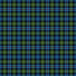 "Mackenzie / Seaforth Highlander tartan, 2"", muted colors (twill lines)"