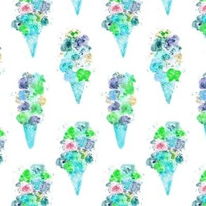 'Dolce vita' mint ice cream || watercolor icecream cones