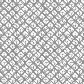 shibori simple squares on linen in gray