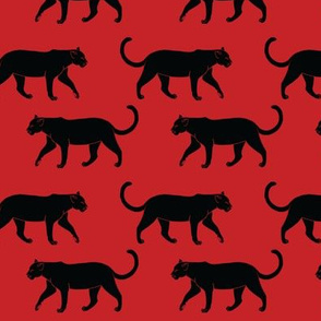 Black Panthers on Red
