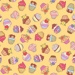 cupcakes  yellow