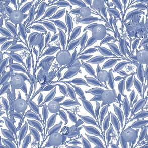 Orange Boughs ~ William Morris ~ Willow Ware Blue and White