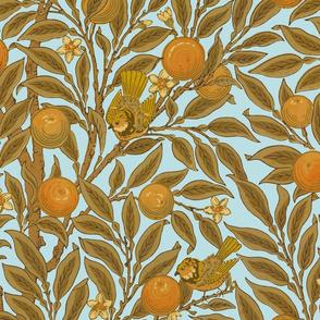Orange Boughs ~ William Morris ~ Audrey  ~ Large