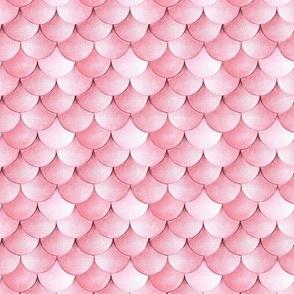 blush pink Mermaid scales watercolor