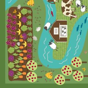Farmyard play mat