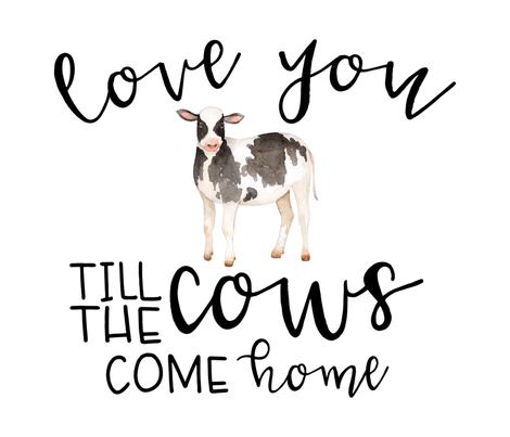 Love you till the cows come home - Fat Quarter (Cotton) fabric by longdogcustomdesigns on Spoonflower - custom fabric