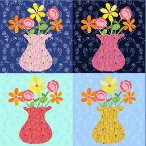 Vase Study Cheater Quilt