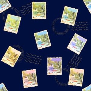 Stamps from the lake - Navy