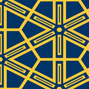 The Navy and the Yellow: Geometric Starburst