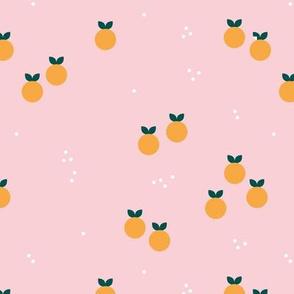 Sweet summer oranges abstract citrus fruit garden pink orange