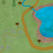 Let's go to the lake (playmat)