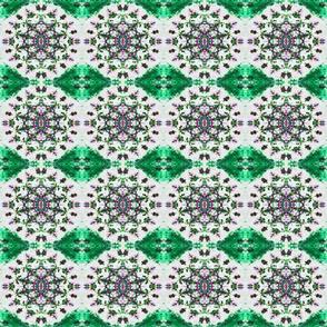 Cracked Lotus & Green Diamonds