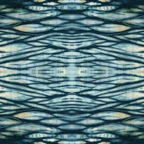 Waves of Dark Indigo Arashi Shibori