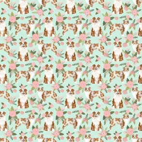 TINY _ australian shepherd red merle pet quilt d coordinate floral dog fabric