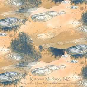 Rotorua Mudpool tea towel - sand