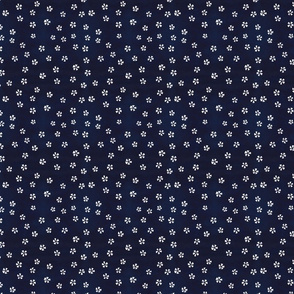 Indigo Blue with little white flowers