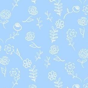 Floral Navettes - Sky