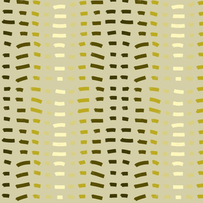 Vertical Tribal stripe in Olive Green, Cream and Taupe