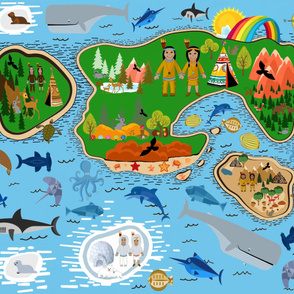 Native American Lands Playmat