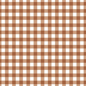 Gingham Plaid Check // Terracotta Autumn Leaf