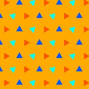 Orange and Blue Ditsy Triangles