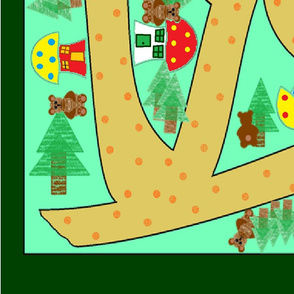 Toadstool Village Playmat - large