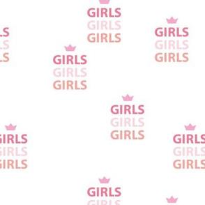 Girls girls girls woman empowerment and girls super hero print typography pink