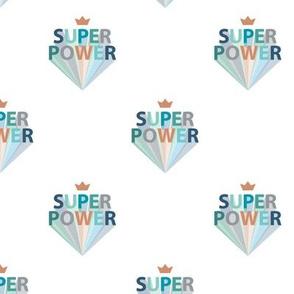 Superpower boys super hero print typography rainbow