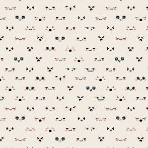 Cute faces neutral background
