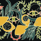 Tropical Lemon Eye Pattern