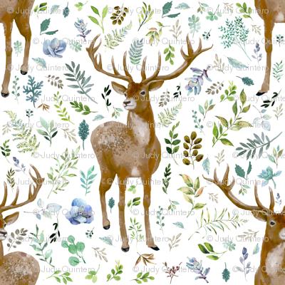 """18"""" Deer Summer Foliage"""