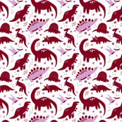 FleuRAWRsaurus White Small
