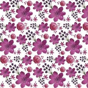 Plum Purple Floral - Small