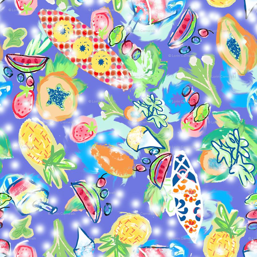 papayas and pinapples lg wallpaper - lorloves_design