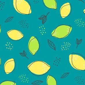Citrus on Turquoise