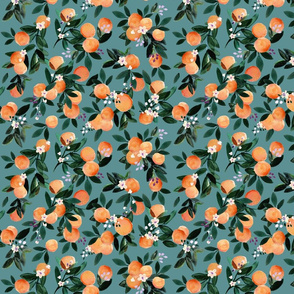 DearClementine oranges teal - S