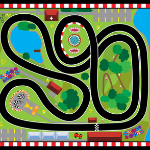 Racetrack Playmat - Buy Full Yard Only