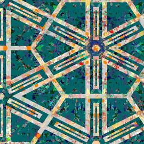 Antique Patina: Geometric Starburst_Collage_58