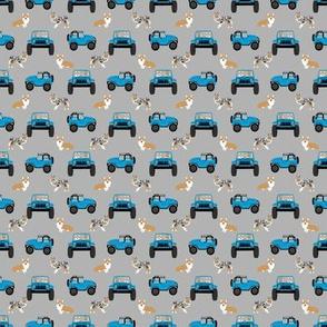 custom corgi sheltie jeep