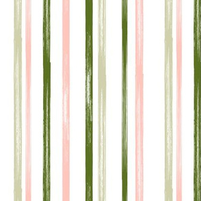 Pink and green stripe - coordinate - LAD19