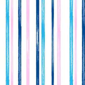 Pink and blue stripe - coordinate - LAD19