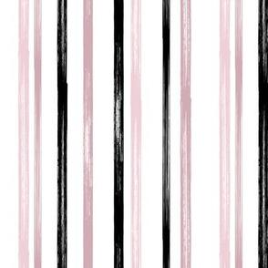 Mauve and black stripe - coordinate - LAD19