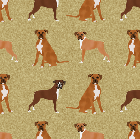 boxer pet quilt a dog breed nursery coordinate  - gold fabric by petfriendly on Spoonflower - custom fabric