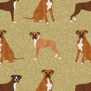 boxer pet quilt a dog breed nursery coordinate  - gold