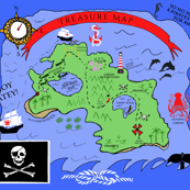 Yo Ho Ho Ho - A Pirate Treasure Map Playmat
