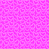 Lovely Pink Hearts Pattern Fabric