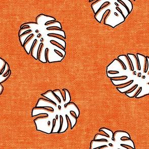 Monstera leaf - orange - LAD19