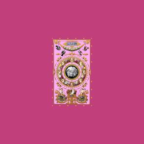 custom 1 pink baroque doors cartoon medusa per yard