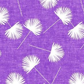 fan palm - purple  - palm leaves - LAD19